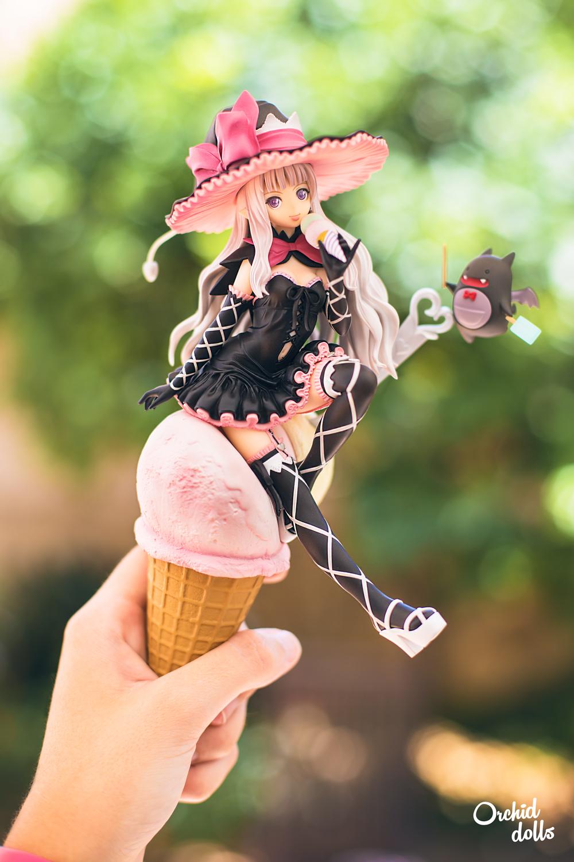 melty alter figura fotografía de juguetes helado brujita
