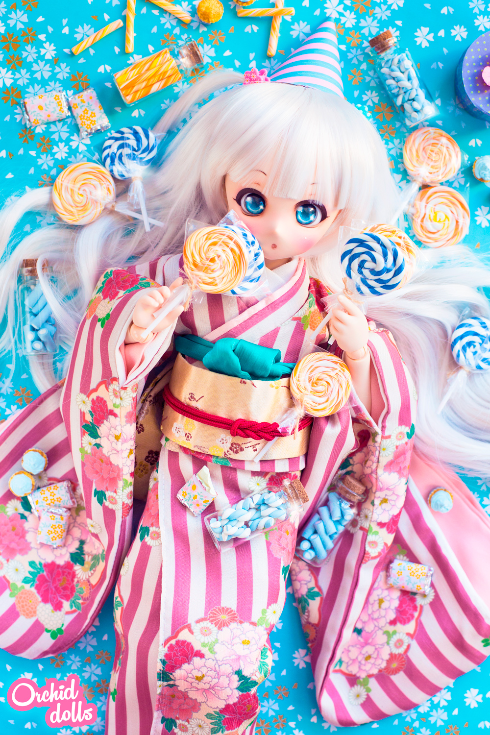 Custom Mini Dollfie Dream DDH-01 Nebula en Candyland