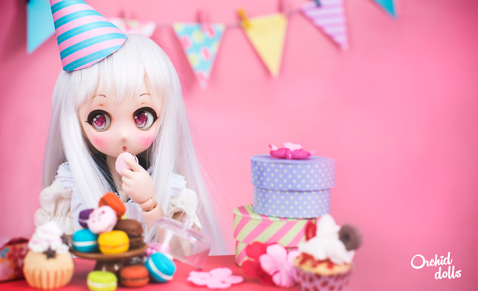 Dollfie Dream comiendo macarons Nebula